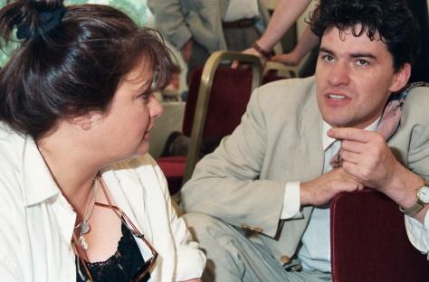 Antonia with Mark Cousins; Photo: Edinburgh International Film Festival